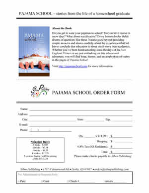 Pajama School Order Form